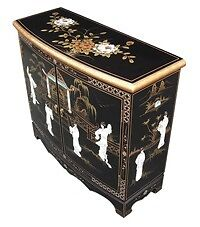Oriental laquerd. Mother of pearl cabinet forsale