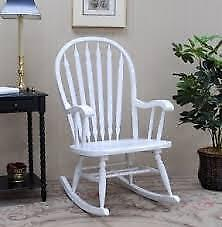Brand new white solid wood Rocker for sale