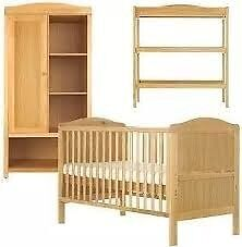 COT BED AND WARDROBE AND DRESSER