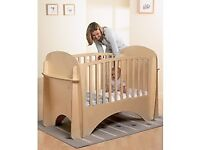 lINDAM WOODEN SLOT COT - USED