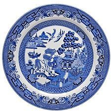 Churchill - Blue Willow Entree Plate 20cm (Made in England)  Brand New and RARE