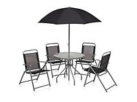 BRAND NEW Round Patio Set Black 6 Pieces ( only £50 )