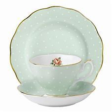 Royal Albert  - Polka Rose Tea Cup Saucer and Plate Set  BRAND NEW