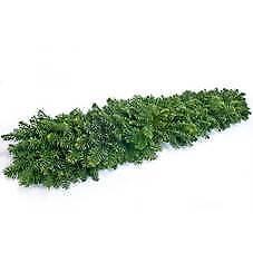 Fresh Christmas wreaths and Christmas garlands