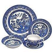 Churchill Blue Willow Set