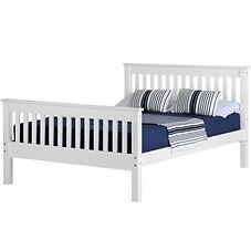 NEW white wooden 4ft6 double bed IN STOCK NOW