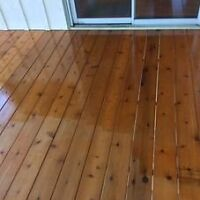 Deck staining and junk removal