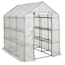 WILKO Large Walk In Greenhouse 143x214x195cmH +