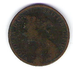 Coin 1876 Great Britain 1/2 Cent Penny