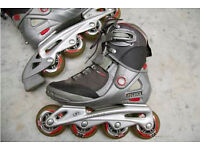 TECNICA Inline Roller Skates + Rollerbalde wrists and knees guards