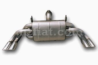 Ferrari 355 ANSA Rear Muffler Assembly (not for models with F1 gearbox) New
