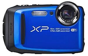 Fuji XP90 blue underwater camera