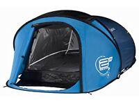 Quechua 2 seconds, 2 man pop up blue tent