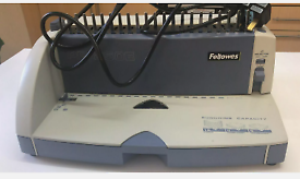 FELLOWES PB 250E PLASTIC COMB BINDING MACHINE WITH ELECTRIC PUNCH RRP