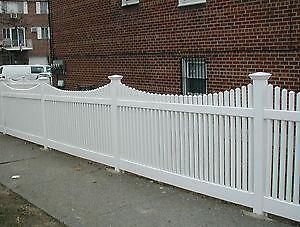 White Vinyl Fence Ebay