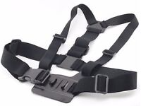 """Gopro """"Chesty"""" mount/harness. Adjustable. Video/action cameras. Snowboarding, Cycling, Kayaking"""