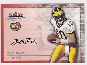 Tom Brady Autograph Rookie Card c3a364381