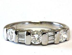 round and baguette diamond rings - Wedding Rings On Ebay