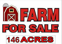 146 ACRE FARM FOR SALE