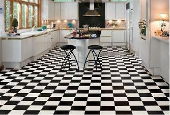 1 Square Metre Black And White Victorian Reproduction Floor Tiles