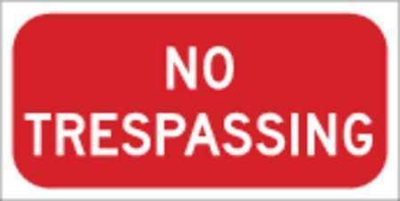 Brady 115532 Traffic Sign,6 X 12In,Wht/R,Engr Gr Al