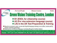 English Language Preparation Centre for B1, A2, A1 or Life in the UK