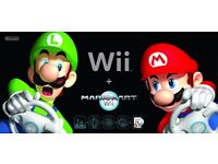 BLACK BOXED NINTENDO WII WITH MARIO KART CHEAP 35POUNDS ONLY