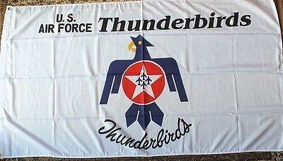 US Thunderbirds Squadron Flag elite USAF Elite Display Team Planes Aircraft 5x3