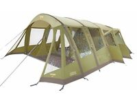 Vango inspire 500 airbeam, elite range 2014, iguana green, 5 person with space.