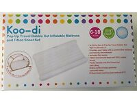 Koodi Inflatable Mattress & fitted sheets set for the bubble cot