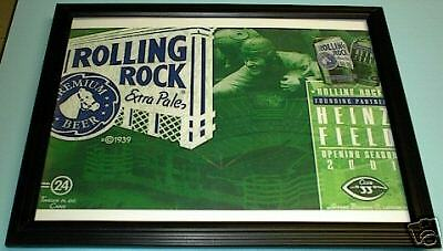 ROLLING ROCK BEER 2001 HEINZ FIELD FRAMED 11X14 PRINT