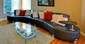 Beautiful dark brown leather sofa!