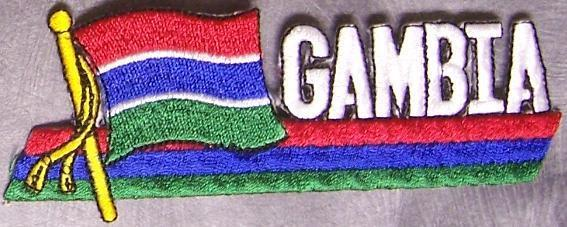 Embroidered International Patch National Flag of Gambia NEW streamer