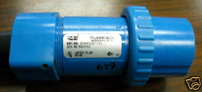 Russellstoll 3760pdg1100 Plug 30 Amp 600v 3 Phase 4w