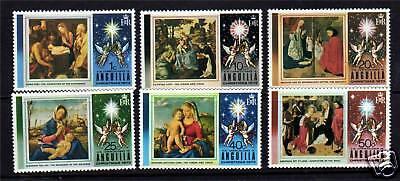 Anguilla 1973 Christmas SG 167/72 MNH