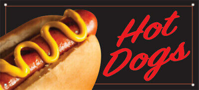 20x48 Inch Hot Dogs Vinyl Banner Sign Kb-stk