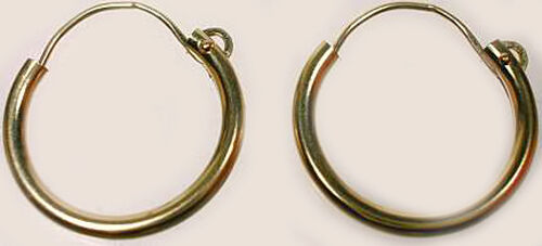 High Quality 14kt Gold 12mm Top Wire Hoops Ancient Celts Vikings Norse English