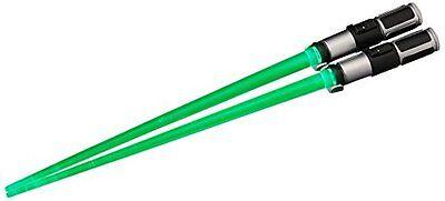 Star Wars Lightsaber Chopsticks Green Light Up Yoda Chop Sticks New Japan