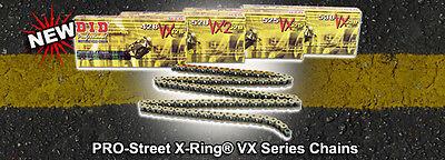 Did 525 Vx Gold Black  X Ring Chain D I D 525Vx 122 Links 525Vx