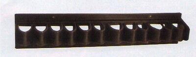Whip Rack - Flat Whip Rack Riding Crop Bat or Fishing Pole Holder Black Plastic - Holds 11