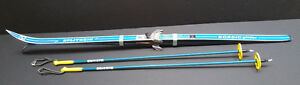 2 Pairs Splitkein X-country Skis w Bindings and Poles
