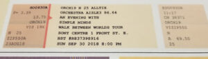 Pair of Tickets to SImple Miinds - Toronto - Sony Centre Sept. 3