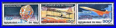 MALI 1969 SPACE APOLLO 11 / CONCORDE PLANE MNH CV$9.00 BALLOONS  (K-LM-DEC)