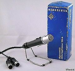 EXCELLENT CONDITION - Vintage Telefunken TD 4 Dynamic Microphone - TD4 - Comes in Original Box