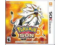 Pokemon Sun for 3ds 2ds