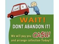 SCRAP CARS AND VANS BOUGHT FOR CASH ANY CONDITION!!