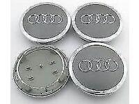 4 x AUDI CENTRE CAPS 69mm alloy wheel center Badges A 1 2 3 4 5 6 8 Q RS S TT