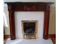 Immaculate Mahogany Fireplace
