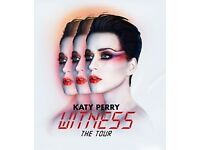 GENERAL STANDING TICKET SHEFFIELD KATY PERRY WITNESS THE TOUR