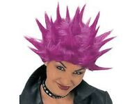 PINK PUNK FANCY DRESS WIG GREAT FOR PARTY OR HEN DO HAVE OUTFIT FOR SALE